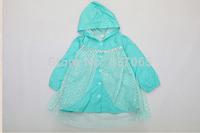NEW 2014 Frozen Rainwear Children Raincoat Frozen Princess Elsa Rain Gear for 2-7ages Girls Frozen Girl Rancoat Pink Blue Color