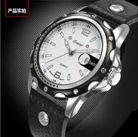 Rivets Sports Designer Men Casual Leather Strap Wristwatches Fashion High Quality Quartz  Dress Watch Calendar Male Clock NW885