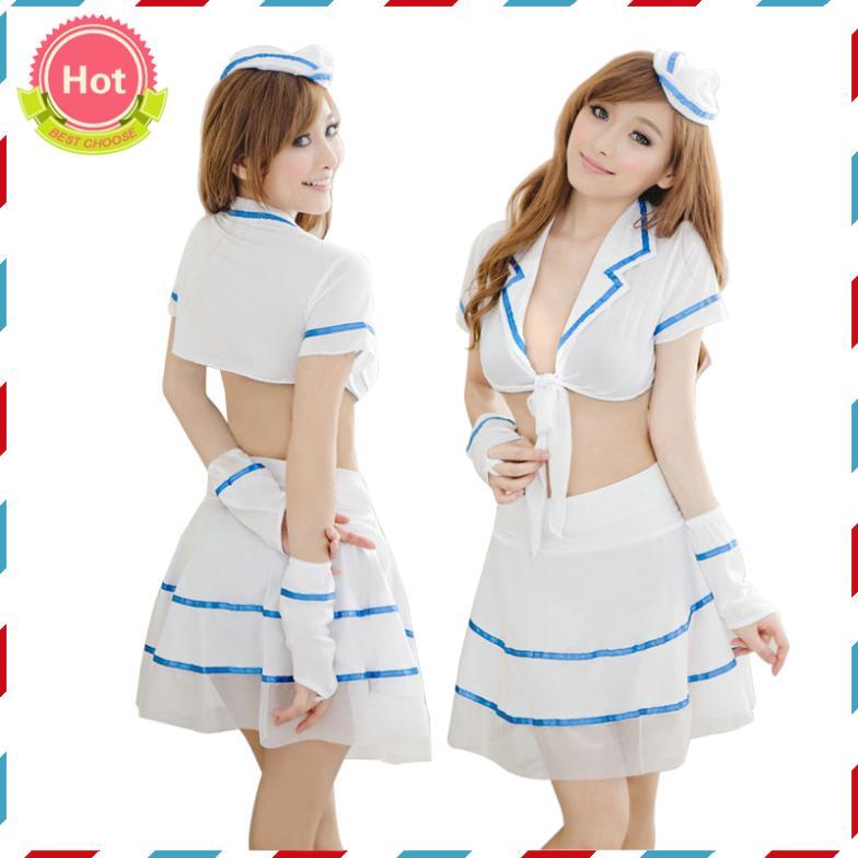 White Sailor Dress Womens
