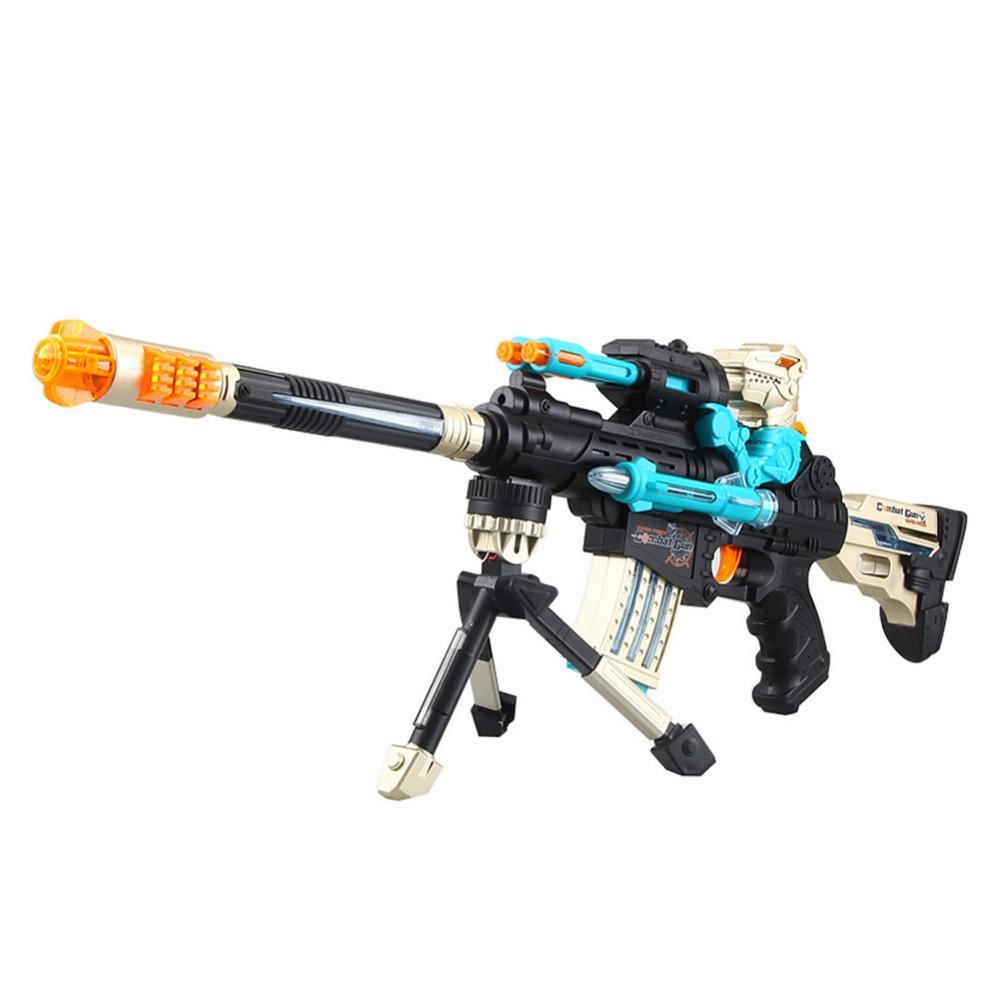 Sin gastos de envío! Nuevo seguro de los niños de juguete pistola eléctrica de sonido y la luz pistola ametralladora sniper rifle desmontable