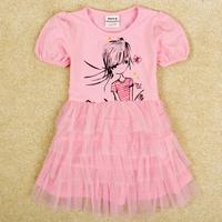 new 2014 baby girl clothes with lace nova brand kids girl princess dress baby & kids dresses meninas vestir casual dress H4793