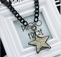 Free shipping 2014 Chain chunky necklace Choker statement necklaces & pendants color small star pendant necklace