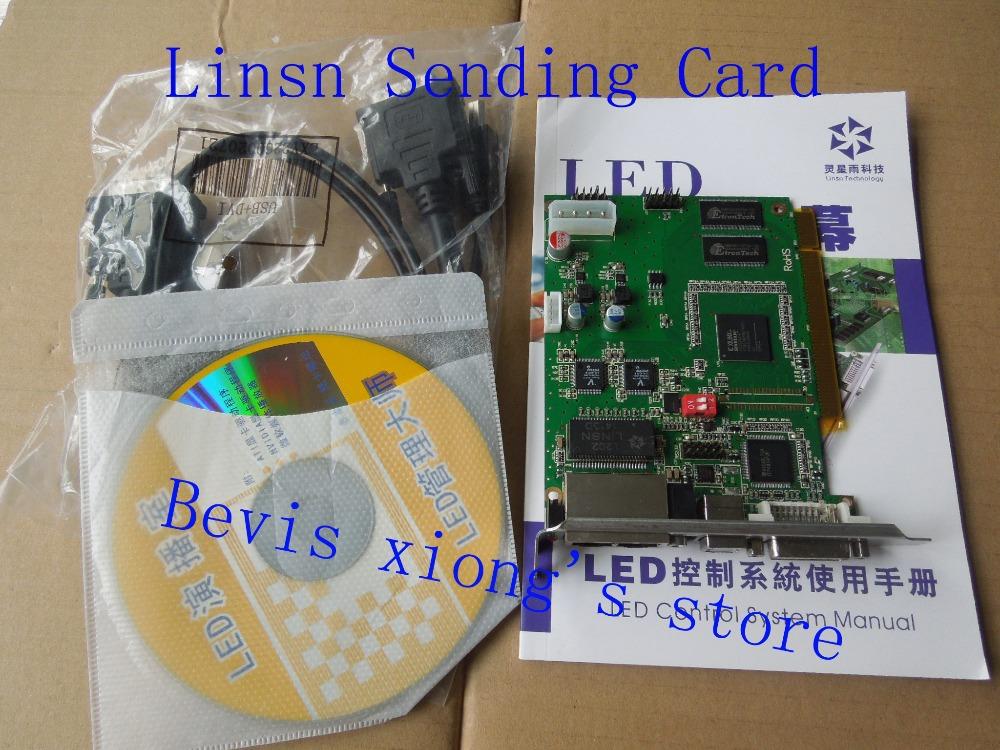 HOT Sale / Free Shipping / Good Quality Linsn Sending Card Spot Supply / LINSN TS802D sending card +USB +DVI Cables(China (Mainland))