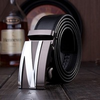 Designer brand high quality men's genuine leather belt metal , famous waistband men belt for male Y02