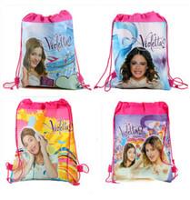 2014 envío gratis caliente! Nuevos niños violetta impreso mochilas mochilas escolares para niña no- tejido de lazo de regalo bolsa de dibujos animados(China (Mainland))