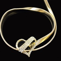 New Arrival 2014 New Fashion Gold Metal Belts for Women Flower Waist with Diamonds High quality
