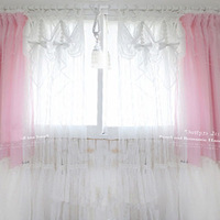 Julliette&Dream White princess tulle curtain valance curtains bedroom living room window screening wedding decoration gift