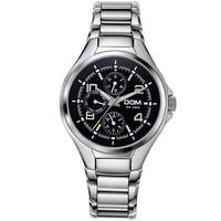 2014 Watches men Luxury Brand new DOM MS-376D military sport quartz watch full stainless steel Men wristwatch relogio masculino