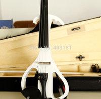 High Quality 4/4(T)  Violin  Send violin Hard case/Handmade White Electric Violin Free Shipping