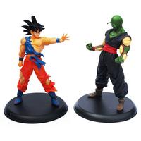 Free Shipping 2pcs/set Dragon Ball Action Figures Goku & Piccolo Super Saiyan and Demon King PVC 23cm toys boys gift