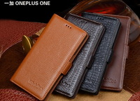 Luxury Genuine Leather Flip Cover Case For OnePlus One phone Case One Plus One case