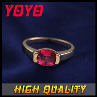 2014 New ITALINA Brand Fashion Red Zircon Ring 18k Rose Gold Plated Imitation Diamond Rings for Women Ruby Party Ring BK003