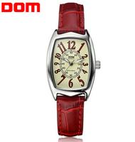 Dom 2014 Cow leather strap watches fashion elegant dive quartz women dress watches