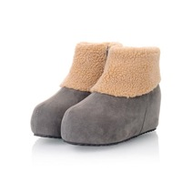 MEMOO  2014 Women Snow Boots Round Toe Platforms  Med heel Waterproof  Winter US  Size 4-12 Rubber bottom PU A1592