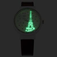 Luminous Eiffel Tower Handmade Clay Watches Original Imported Quartz Wristwatch Korean Mini 3ATM Clock Leather Strap Reloj NW845