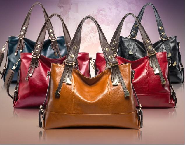 2015 Brand women fashion handbag/genuine leather American-European style shoulder handbag/hobo bag/messenger bag/free shipping(China (Mainland))