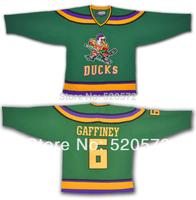 Womens -Cheap Gaffney Mighty Ducks #6 Anaheim Hockey Jerseys 1996 - Customized Jersey With  XXS-6XL