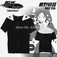 2014 new Kagerou Project MekakuCity Actors Kano Hoodie Cosplay Unisex Fashon Music coat Zip Hooded Sweater Casual t-shirt