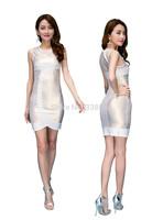 Bandage Dress 2014 New Arrival Women Elegant Bodycon Dresses New Fashion Patchwork Autumn Casual Free shipping Plus Size