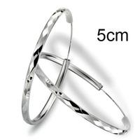 Sterling Silver 925 Big Hoop Earring Jewellery 5cm