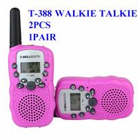 1set/2pcs LCD 5km UHF Auto Multi Channels 2-Way Radio Wireless Walkie Talkie T-388 Free shiping