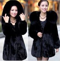 casacos femininos 2014 Haining special clearance mink fur coat women long section of imitation women coat
