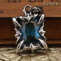 Fashion Big CZ Pendant Nobel lovers' Zircon Necklace Pendants Gothic Style blue Free Shipping