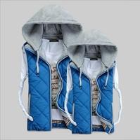 CD-47 S- XXXL Plus size new 2014 Lover women and men autumn winter cotton vest 4 color waistcoat veste femme coat down jacket