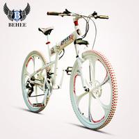 2014 Bach's Luxury Mountain Bike 21/24/27 Speed Double Disc One-pc Wheel Folding Bike Free Shipping