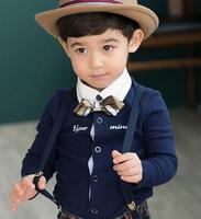 2014 Children Tie Bow Tuxedo Waistcoat Gentleman Wedding Christening Boys Blouse
