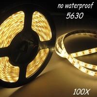 100X No  waterproof led strip SMD5630 led bar light DC12V 60led/M indoor decoration light white/warm white Free Shipping