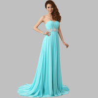 2014 New Arrival Long Evening Dress Party Dress Evening Elegant Chiffon Sex Sweetheart Evening Dresses Party Formal Dresses