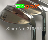 2014 new model Brand golf wedges SM5 Golf clubs 52/56/60 3pc/set Steel shaft Champagne Golf Club With Head Cover Free Shipping