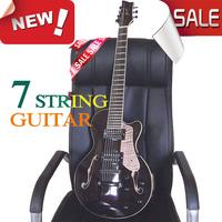 7 string electric guitar Guitarra  tiger Hollow 7 seven string electric guitar Dark gray tiger panel  ems Free shipping 188