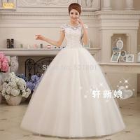 New wedding dress 2014 v-neck bind princess high-grade lace wedding dresses china free shipping vestido de noiva real photo