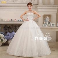 New 2014 weddings set auger strapless gown princess dress sequins wedding dress vestido de noiva ball gown wedding dresses 343