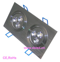 CE,good quality Square 6W LED Downlight,110-250VAC with LED driver,DS-CSL-11,6X1W,Warmwhite,white,