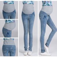Denim Jeans For Pregnant Women Clothing for Pregnancy 2015 Fashion Maternity Pencil Pants Maternity Clothes Roupas Femininas