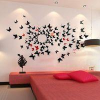 2014 HOT 3D 12cm Butterfly Wall Sticker DIY Decoration Home Art Decal