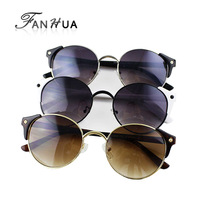 Best Selling New Fashion Sunglasses Sexy Retro Style Round Circle Sunglasses Retail Wholesale with Free Glasses Boxes