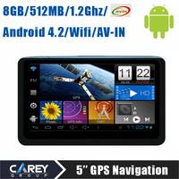 5 inch tablet MID gps navigator Android 4.2 GPS Navigation Boxchips A13 AV IN 1.2G 512MB 8G FM WIFI 5015