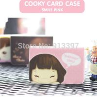 100PCS Korean Lovely Girl Credit Business Card Slot ID Case Holder Bag Wallet//Random