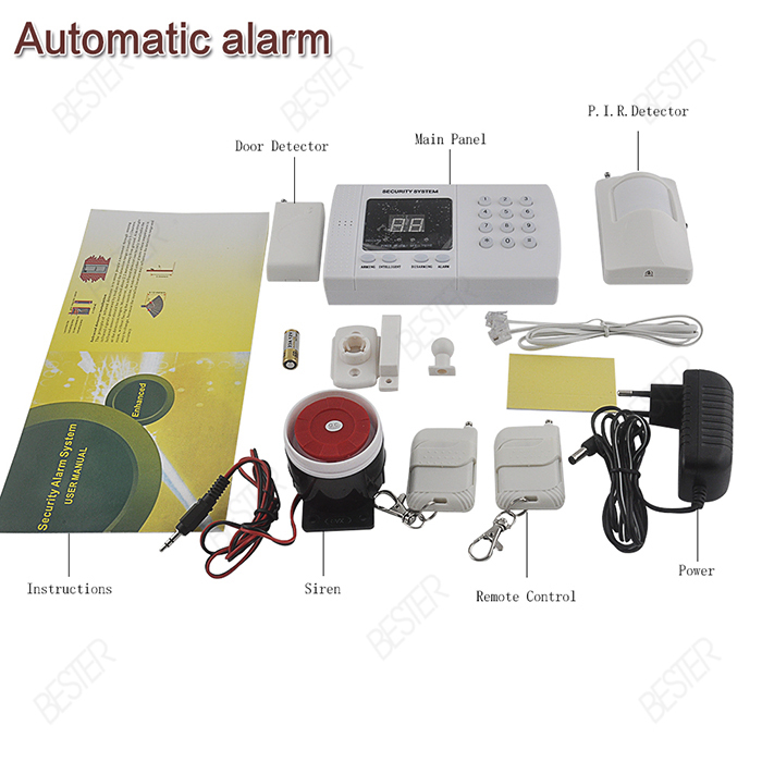 high sensitivity Auto Dialing Dialer Wireless 99 defense zones PIR alarm security system Burglar Voice Alarm System(China (Mainland))