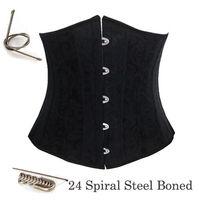 hot 24 steel boned corset underbust corselet waist training waspie plus size S M L XL XXL 3XL 4XL 5XL 6XL