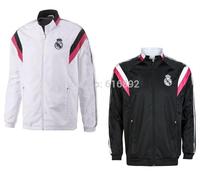 Real Madrid coat white 2015 best thai quality N98 Real Madrid jacket 14 15 free shipping black