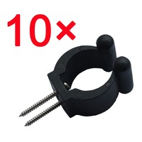 10 Pcs standard fishing pole storage tip clips clamps rod holders w/screws durable treated Rack clips