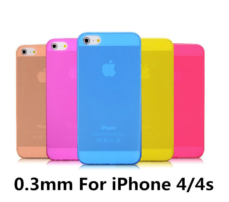 capa de alta qualidade para iphone 4 4s 4 slim capa transparente fosca para