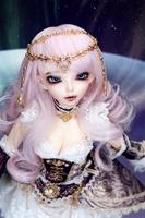 Free shipping bjd doll 1/4  send makeup and eyes sd doll fashion specital Chloe Full Package (Amethyst) bjd doll 1/4