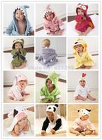 13 color children's bathrobe / bathrobes absorbent cotton pajamas cartoon cute style special aspen