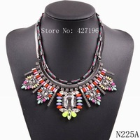 autumn classic hot 2014 fashion new brand chunky statement multi color necklace with cheap price for women